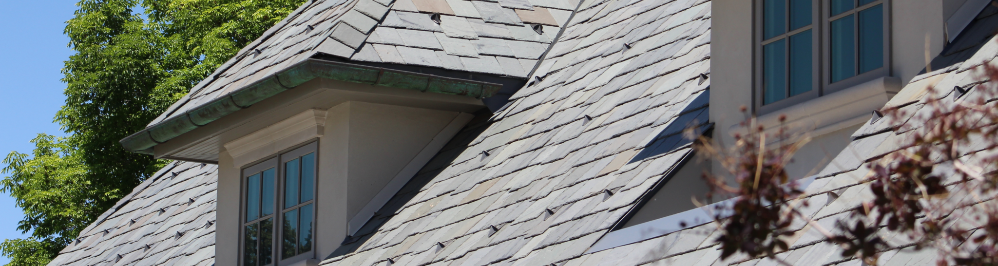 "3/8"" to 1/2"" slate roof. Vermont Gray Black"